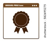 badge with ribbons  icon for... | Shutterstock .eps vector #582695275