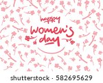 Happy Womens Day Lettering...