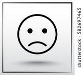 face sign icon  vector... | Shutterstock .eps vector #582697465