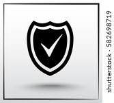 shield sign icons  vector... | Shutterstock .eps vector #582698719