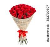 flower bouquet of red roses | Shutterstock . vector #582700807