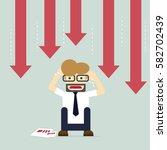 business fail. graph down... | Shutterstock .eps vector #582702439