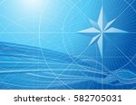 blue compass global connection... | Shutterstock .eps vector #582705031