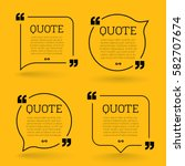 trendy block quote modern... | Shutterstock .eps vector #582707674