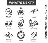what's next icon set | Shutterstock .eps vector #582717715