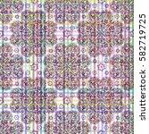 tile floral ornament ... | Shutterstock .eps vector #582719725