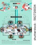 infograph brochure template... | Shutterstock .eps vector #582720034
