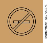 no smoke poster icon. flat... | Shutterstock .eps vector #582723871