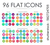 96 flat icons. vector...
