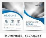 brochure template flyer design... | Shutterstock .eps vector #582726355