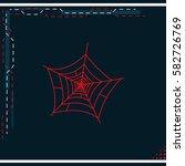 spider net icon. | Shutterstock .eps vector #582726769