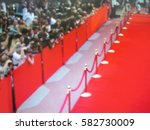 blurred image. red carpet... | Shutterstock . vector #582730009