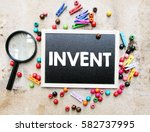 a concept image of a colorful...   Shutterstock . vector #582737995