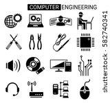 set of computer engineering... | Shutterstock .eps vector #582740341