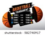 vector of basketball match with ...   Shutterstock .eps vector #582740917
