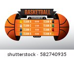 vector of basketball match with ... | Shutterstock .eps vector #582740935