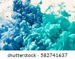 abstract ink in water | Shutterstock . vector #582741637