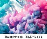 ink drop in water. abstract... | Shutterstock . vector #582741661