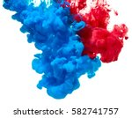 blue and red ink splash... | Shutterstock . vector #582741757