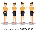set office workers. | Shutterstock .eps vector #582743935