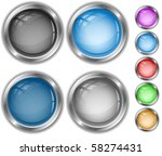 vector internet buttons | Shutterstock .eps vector #58274431