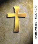 Golden Religious Symbol On A...