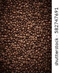 coffee beans texture | Shutterstock . vector #582747691