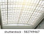 structural steel frame inside... | Shutterstock . vector #582749467