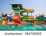 local aqua park  water park... | Shutterstock . vector #582750505