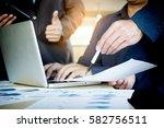 team work process. young... | Shutterstock . vector #582756511