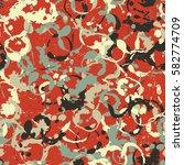 seamless pattern. disorderly... | Shutterstock .eps vector #582774709