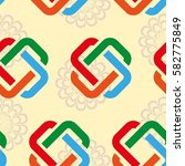endless abstract pattern.... | Shutterstock .eps vector #582775849