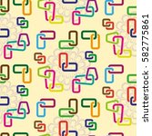 endless abstract pattern.... | Shutterstock .eps vector #582775861