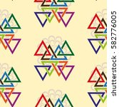 endless abstract pattern.... | Shutterstock .eps vector #582776005