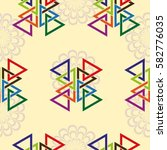 endless abstract pattern.... | Shutterstock .eps vector #582776035
