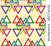 endless abstract pattern.... | Shutterstock .eps vector #582776101