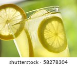 lemonade closeup | Shutterstock . vector #58278304