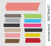 collection of adhesive tape... | Shutterstock .eps vector #582784627