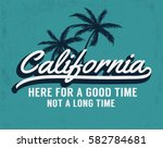 california vector illustration... | Shutterstock .eps vector #582784681