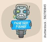 vector illustration  robot... | Shutterstock .eps vector #582785845