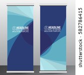 roll up banner stand template...   Shutterstock .eps vector #582786415