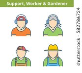 occupations colorful avatar set ...   Shutterstock .eps vector #582786724