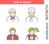 occupations colorful avatar set ... | Shutterstock .eps vector #582786751