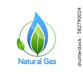 natural gas logo  isolated on... | Shutterstock .eps vector #582790024