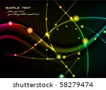 energetic light tracks   modern ... | Shutterstock .eps vector #58279474