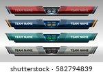 scoreboard broadcast graphic... | Shutterstock .eps vector #582794839