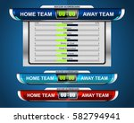 scoreboard broadcast graphic... | Shutterstock .eps vector #582794941