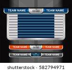 scoreboard broadcast graphic...   Shutterstock .eps vector #582794971