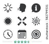 lamp idea and clock time icons. ... | Shutterstock .eps vector #582799531