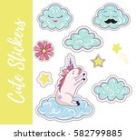 patch  badges  stickers with... | Shutterstock .eps vector #582799885